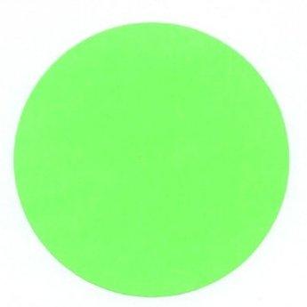 Etiket 50 mm rond fluor groen kleefkracht permanent, aantal etiketten 1000 stuks op rol.