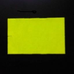 Etiket 2616 recht fluor geel permanent