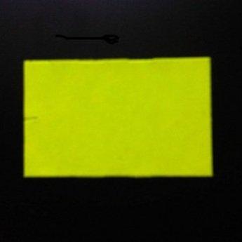 Etiket 26x16 rechthoek fluor geel permanent-2slit 36.000  (36 rollen
