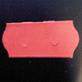 Etiket 26x12 golfrand gewoon rood permanent  2-sl  54.000  (=36 rollen a 1500 etiketten) Gommering / kleefkracht 2