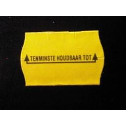 Etiket 2516 geel perm 2slit Tenminste ho
