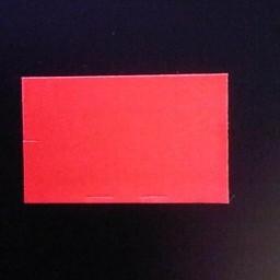 Etiket 2616 fluor rood afneembaar rechth