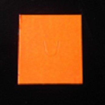 Etiket Sato PB-216 + Sato Duo 16 fluor oranje permanent,  afmeting etiket 18x16,2mm, doosinhoud 50 rollen