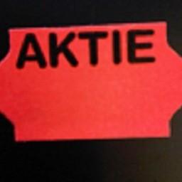 Etiket 3219 fluor rood   AKTIE