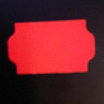 Etiket 3219 golfrand fluor rood permanent 2slit, doosinhoud 30 rollen