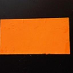 Etiket 3719 fluor oranje perm 25.000