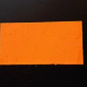 Etiket 3719 rechthoek fluor oranje permanent 2slit, doosinhoud 25 rollen