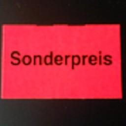 Etiket 2616 rechthoek flrood Sonderpreis