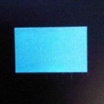 Etiket 26x16 rechthoek blauw permanent-2slit 36.000  (36 rollen