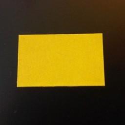 Etiket 2616 rechthoek geel afneembaar