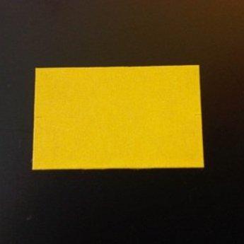 Etiket 26x16 rechthoek geel afneembaar -2slit 36.000  (36 rollen