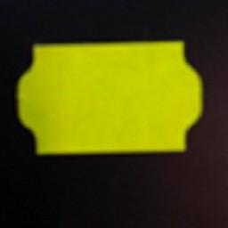 Etiket 3219 fl.geel perm 2-slit  30.000
