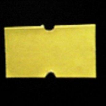 Etiket 2112 geel afneembaar met gaatje tussen de etiketten, etiketten aan de buitenzijde op de rol, doosinhoud 50 rollen