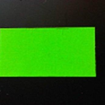 Etiket 3719 rechthoek fluor groen permanent 2slit, doosinhoud 25 rollen