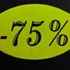Etiket fluor geel 33x25mm -75% 500/rol