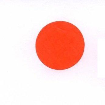 Etiket 20 mm rond fluor rood kleefkracht permanent, aantal etiketten 1000 stuks op rol.