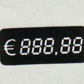 Etiket digitaal 38x16 mm aantal 500 per rol bedrukking: ? 888,88  aantal 500 per rol. Deze zelfklevende etiketten zijn van papier.