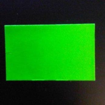 Etiket 26x16 rechthoek fluor groen afneembaar -2slit 36.000  (36 rollen