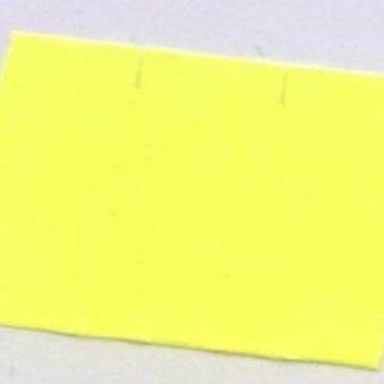 Etiket 2616 golfrand fluor geel diepvries kleefkracht  39.600 etiketten. ( 36 rollen