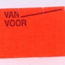 Etiket 2616 fl.rd afn.golf Van Voor METO