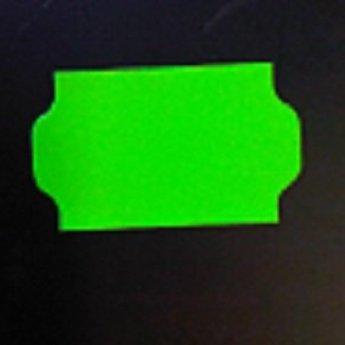 Etiket 3219 golfrand fluor groen permanent 2slit, doosinhoud 30 rollen