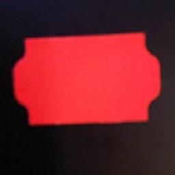 Etiket 3219 fluor rood afneembaar 30.000
