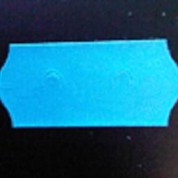 Etiket 2612 afneembaar blauw     54.000