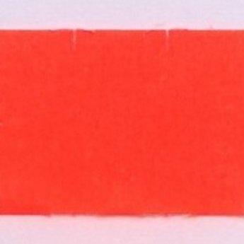 Etiket 2616 fluor rood permanent met veiligheidssnit, 2-slit golfrand  39.600 etiketten ( 36 rollen