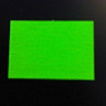 Etiket Sato PB-220 of Duo 20 fluor groen permanent, afmeting 23x16.2 mm. Doosinhoud 60.000  (=50 rollen