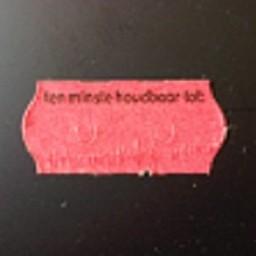 Etiket 2612 rood perm 2slit Tenminste ho