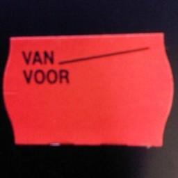 Etiket 2616 fl.rood perm Van Voor 39.600