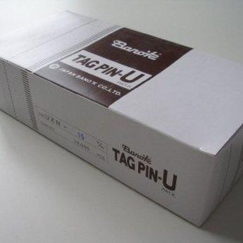 Banok Banok-textielpins 15mm fijn nylon 100 per clip, doosinhoud 10.000. Type UXN 15mm