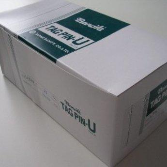 Banok Banok-textielpins 25mm standaard nylon 100 op een clip, doosinhoud 10.000. Type USN 25mm