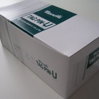 Banok Banok-textielpins 35mm standaard nylon 100 op een clip, doosinhoud 10.000. Type USN 35mm