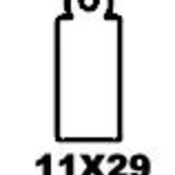 Apli Apli-nr. 00385  Hangetiket met koord 11x29 mm  1000 stuks. Om te beschrijven met pen, van prijs of nummer.