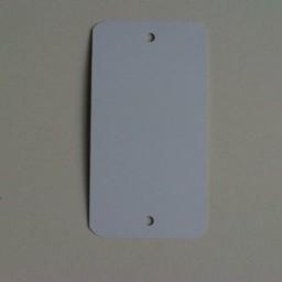 Label metaal 65x120 mm wit 2gaten 1000st