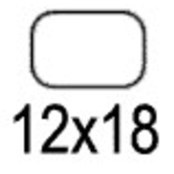 Apli Apli-nr. 01860  mapje universele permanente etiketten 12x18 mm - 1650st