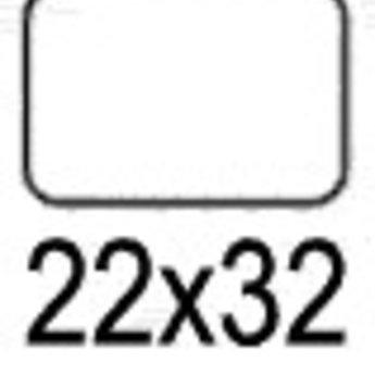 Apli Apli-nr. 01869  mapje universele permanente etiketten  22x32 mm - 540st
