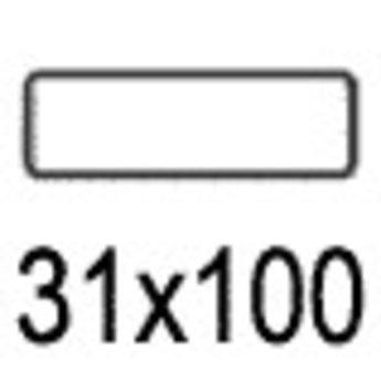 Apli Apli-nr. 01873  mapje universele permanente etiketten  31x100 mm - 136st (nieuwe verp.eenheid)