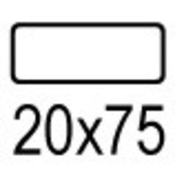 Apli Apli-nr. 01868  mapje universele permanente etiketten  20x75 mm - 300st