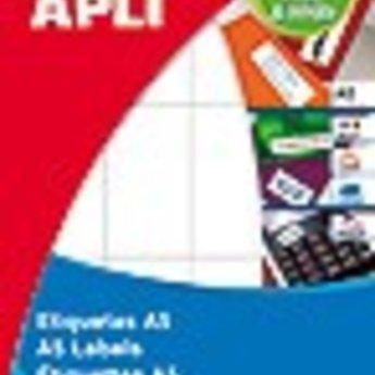 Apli Apli-nr. 01874  mapje universele permanente etiketten  34x53 mm - 180st