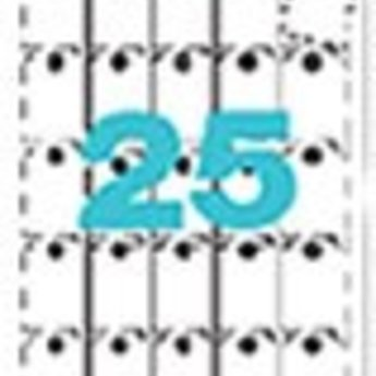 Apli Apli-nr. 10234  Strung cards microperforated 36x53mm voor inkjet laser en copier. 10 vel