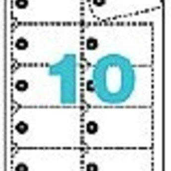 Apli Apli-nr. 10149  Strung cards microperforated 98x57mm voor inkjet laser en copier. 10 vel
