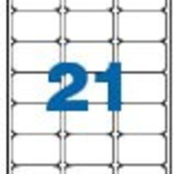 Apli Apli-nr. 02414  Laser/inkjet/kopieer-etiketten op A4 vellen, permanent, etiketafmeting 63,5x38,1mm  100 vel