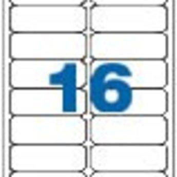 Apli Apli-nr. 02418  Laser/inkjet/kopieer-etiketten op A4 vellen, permanent, etiketafmeting 99x34mm  100 vel