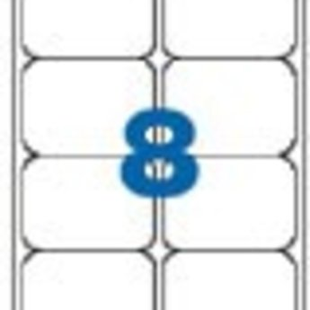Apli Apli-nr. 02420  Laser/inkjet/kopieer-etiketten op A4 vellen, permanent, etiketafmeting 99,1x67,7mm  100 vel