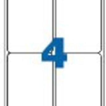 Apli Apli-nr. 02422  Laser/inkjet/kopieer-etiketten op A4 vellen, permanent, etiketafmeting 99,1x139mm  100 vel
