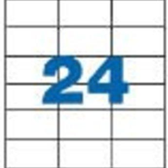 Apli Apli-nr. 01273  Laser/inkjet/kopieer-etiketten op A4 vellen, etiketafmeting 70x37mm  100 vel