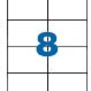 Apli Apli-nr. 01292  Laser/inkjet/kopieer-etiketten op A4 vellen, etiketafmeting 105x70mm  100 vel