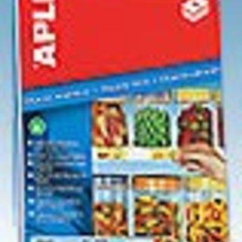 Apli Apli-nr. 10388  Inkjet magnetic schaplabel afmeting 28x80 mm, 18 labels (2x9) per A4, verpakt per 5 vellen